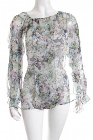 Zara Transparent Blouse floral pattern casual look