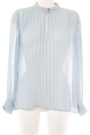 Zara Transparenz-Bluse himmelblau Casual-Look