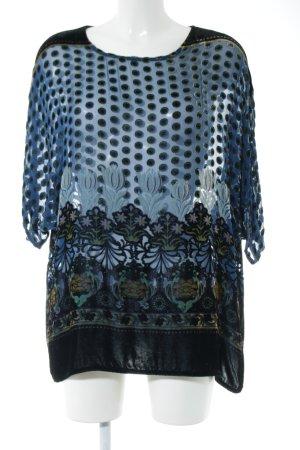Zara Transparenz-Bluse Mustermix Casual-Look