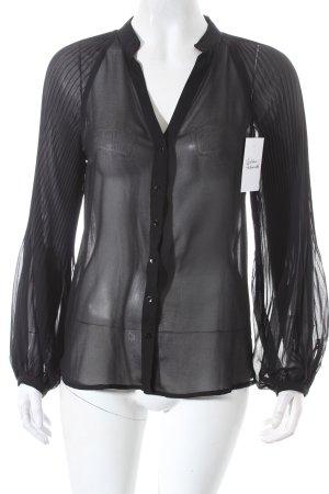 Zara Transparenz-Bluse schwarz Street-Fashion-Look