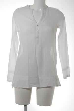Zara Blouse transparente blanc style décontracté