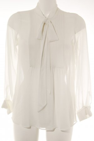 Zara Transparent Blouse natural white casual look