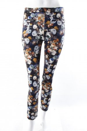 Zara Treggings Blumenprint blau