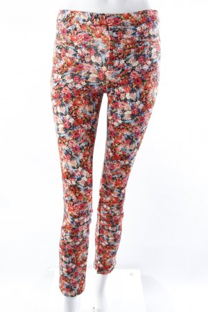 Zara Treggings Blumenprint rot