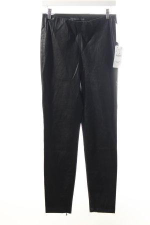 Zara Treggings schwarz Leder-Optik