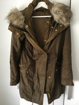 Zara Double Jacket green grey-brown
