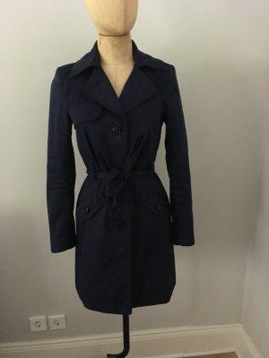 Zara Trench Coat blue cotton