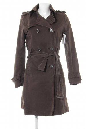 Zara Trench Coat dark brown casual look