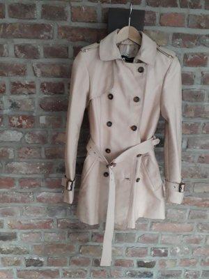 Zara Trenchcoat Gr. XS beige Burberry-Look Mantel