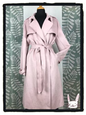 Zara Trenchcoat in Wildlederoptik