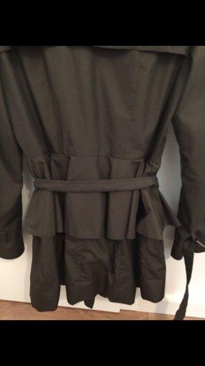 Zara Trenchcoat Military grün Khaki Volant
