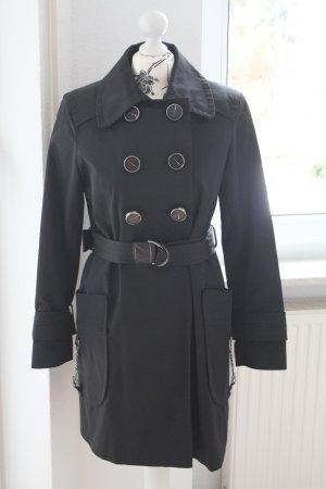 Zara Trenchcoat schwarz mit großen Taschen