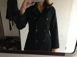 Zara Trenchcoat XS navy mit Etikett
