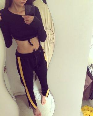 Zara Trend Sweatpants Studio Chino Hose leger lässig locker Schlitze rar sold