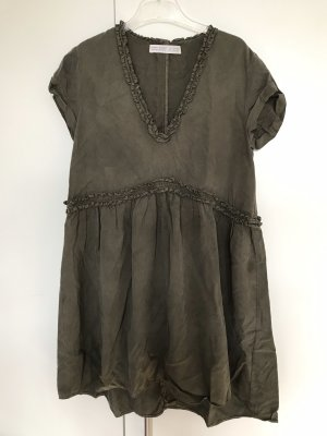 Zara Trafaluc Tunic Dress taupe-khaki