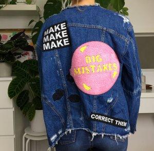 Zara Trf ausgefallene Jeansjacke mit Patches S/36