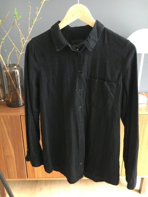 Zara TRF black denim shirt Bluse M