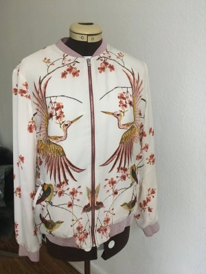 Zara Trf Blousonjacke mit Chinaprint, Gr.M