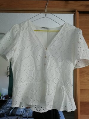 Zara TRF Bluse Broderie Anglaise Peplum