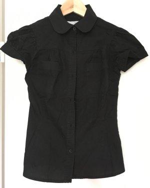 Zara trf Bluse in schwarz mit vielen Details