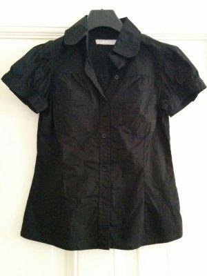 Zara Blouse à manches courtes noir coton