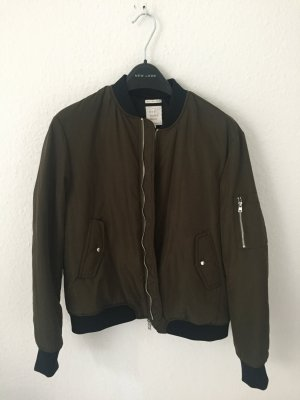 Zara Trafaluc Bomber Jacket dark green