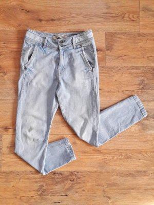 Zara TRF Boyfriend Baggy Denim Jeans blau Gr. 36