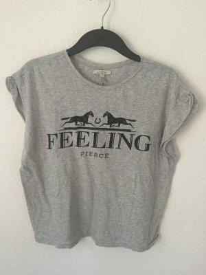 Zara TRF Boyfriend Shirt Grau