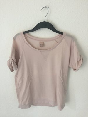 Zara Trf Boyfriend Sweatshirt Shirt Rosa