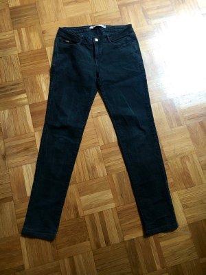 Zara Jeans vita bassa nero Cotone