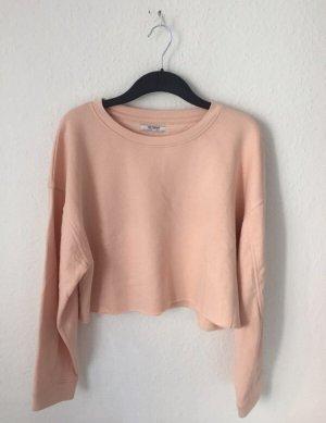 Zara Trf cropped Sweatshirt Apricot Rosa