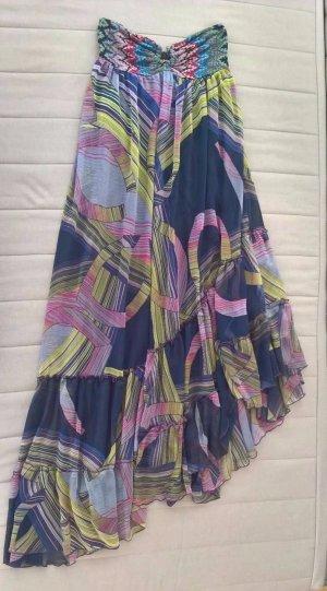 Zara Trf Damen Kleid, Maxi-Kleid, mit sehr schönem muster, Größe S