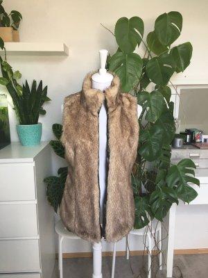 Zara TRF Fake Fur Weste S/36