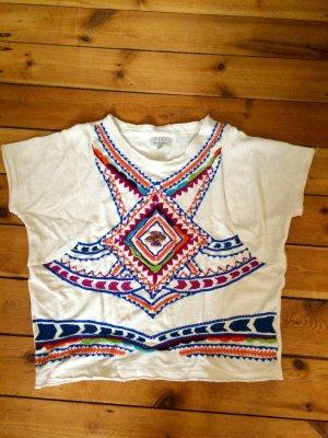 Zara Trf Hippieshirt mit Bestickung