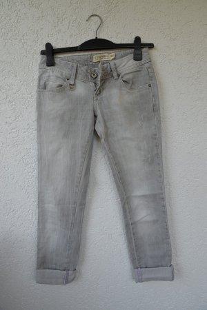 Zara TRF Jeans Hellgrau washed