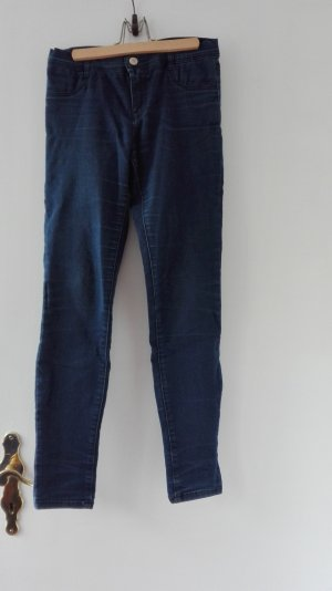 Zara TRF Jeans Röhre Skinny Skin Hose S 36 Mid rise blau cropped