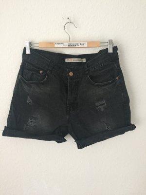 Zara Trf Jeansshorts Schwarz