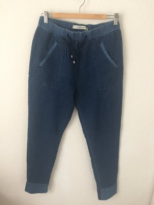 Zara Trf Jogginghose in Jeans Optik