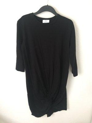 Zara Trf Kleid mit Knoten Schwarz