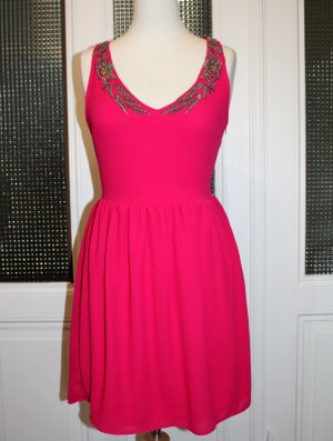 Zara TRF Kleid pink mit Verzierung