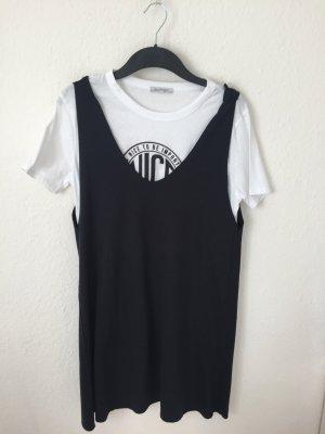 Zara Trf Kleid Schwarz Weiß