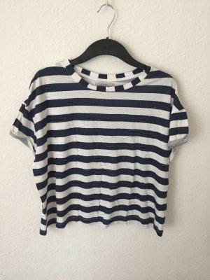Zara Trf kurzes Shirt gestreift