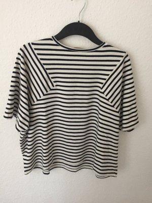 Zara Trafaluc Maglietta a righe blu scuro-bianco sporco