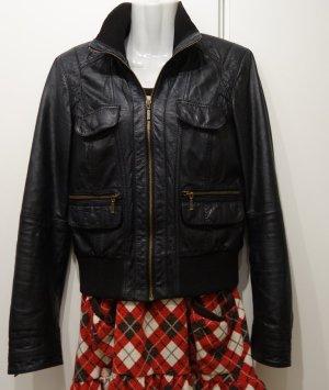 Zara Trf Leather Collection Biker Jacke Echtleder Gr. M (36/38) Kate Middleton