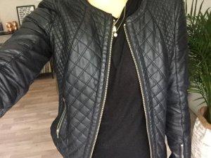 Zara TRF Lederjacke schwarz