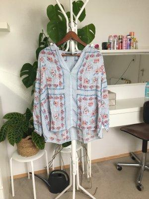 Zara TRF lockere Bluse mit Blumen Print S/36
