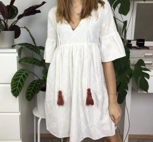 Zara Trafaluc Vestido tipo túnica multicolor tejido mezclado