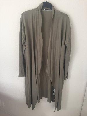 Zara Trf Mantel aus Sweatstoff Grün Khaki