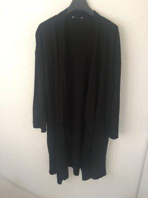 Zara Trf Mantel mit Wasserfall- Ausschnitt Schwarz