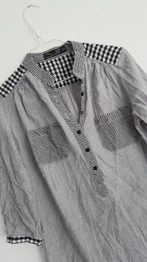 zara trf mesh bluse karo hemd 36 38